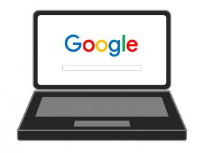 Notebook mit Google-Suchleiste